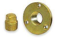 "Boat Marine Garboard Drain Plug Machined Brass Fits 1"" Diameter Hole 1/2''NPT"