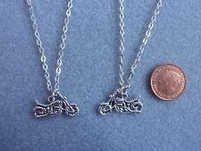 """2x HARLEY DAVIDSON Motorbike Charm Pendant Necklace 18"""" Birthday Gift  # 61"""