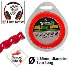 1.6mm Strimmer Line Cord Wire 15m Spool Refil for BLACK & DECKER RYOBI Strimmers