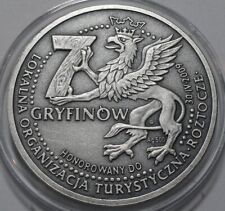 2009 Poland Polen Substitutional Coin 7 Gryfinów Silver 500 Oxidized RARE!!