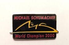 PIN'S PIN PINS  F1 FORMULE 1 FORMULA 1 SCHUMACHER FORMULA 1 WORLD CHAMPION 2000