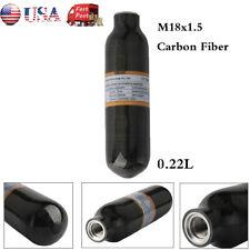 Thread M18x1.5 4500Psi High Compressed Mini 0.22L Ce Air Tank Carbon Fiber Black