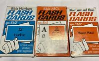 Bible Events and Places Flash Cards ABC's Numbers Stanford Publishing Vintage!