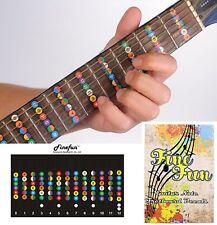 Guitar Fretboard Note Decals Fingerboard Frets Map Sticker For Beginner Learner
