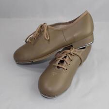 Capezio Tele Tone Girls Tap Shoes Tan Size 4.5 Medium Lace Up