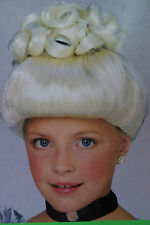 NWT GIrls Blonde Cinderella Wig Up-Do Curls Princess Fairy Tail Glamour Queen c8