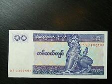 $100 Myanmar Kyats 10 Burma Uncirculated UNC Currency