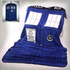 Classic Doctor Who TARDIS Police Box Throw Coral Velvet Blanket Carpet Xmas Gift