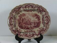 Antique Rare John Ridgway Pomerania Transferware Pink Platter 1830's