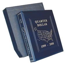 RACCOGLITORE MONETE QUARTI  DOLLARI AMERICANI QUARTER DOLLAR COMPLETO 1999/2008