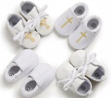 Newborn Baby Boy Girl Crib Shoes Infant Christening Shoes Soft Sole Trainers