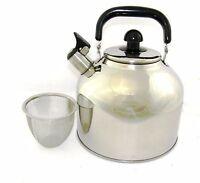 Stainless Steel Large 6.3 Liter 7 Quart Whistling Tea kettle Pot infuser WK1924