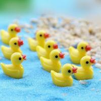 10PCS Mini Yellow Duck Ornaments Micro Landscape Kids Bath Time Cute Rubber New