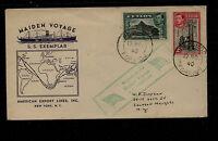 Ceylon  SS Exemplar  maiden voyage cover 1940                MS0303