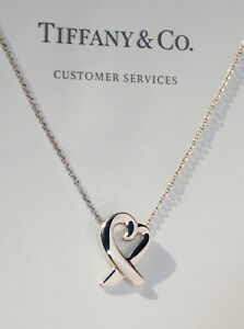 Tiffany & Co Sterling Silver Chain Solid Paloma Picasso Loving Heart Necklace
