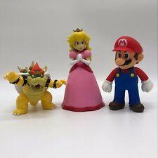 "3X Super Mario Bros Princess Peach Bowser Koopa Mario PVC Plastic Figure Toy 5"""