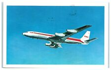 1967 TWA Trans World Airlines, StarStream Airplane Postcard