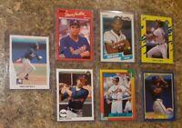 (8) David Justice 1990 Leaf Upper Donruss Fleer Topps Rookie card lot RC Braves