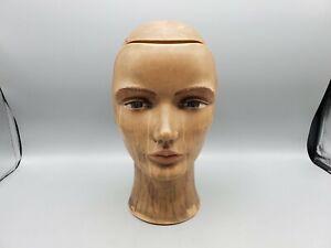 Vintage 1989 Pivot Point Cosmetology Mannequin Head Hairdressing - Dark Skin P-4