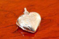 925 Sterling Silver Heart Locket Pendant