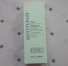 Dhc Rich Moisture Facial Moisturizer for Normal to Dry Skin 3.3oz/100ml New