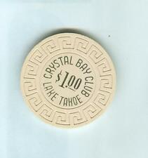 $1  CRYSTAL BAY CLUB  CASINO POKER CHIP--
