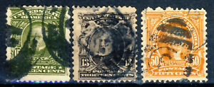 1902-03 United States 3 better very good used stamps