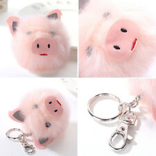 Pig Head Ball Key Pendant Rabbit Fur Ball Key Chains Car Bag Plush Accessories