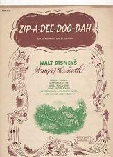 zip-a-dee-doo-dah de la WALT DISNEY MOVIE SONG OF THE SOUTH US Hoja Música
