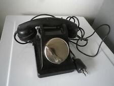 Telephone Vintage Bakélite noir poste PTT
