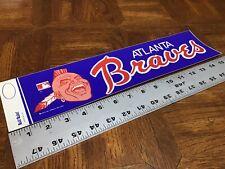 MLB  Atlanta Braves bumper sticker-dark blue