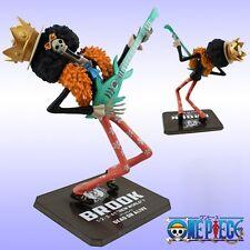 "Anime One Piece Zero Brook New World With Guitar 15cm/6"" PVC Figure No Box"