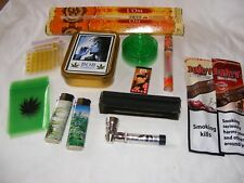 SMOKERS GIFT SET, SHREDDER, PIPES, FILTERS, PAPERS, LIGHTERS, BARGAIN GIFT SET 1