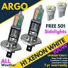 H1 + 501 100w Xenon Ultra Super White Effect Head Lamps Light Bulbs 4 Led 12v