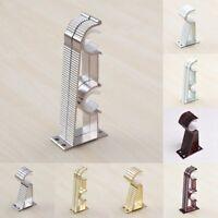 2x Heavy Duty Aluminum alloy Drapery Hook Holder Curtain Rod Pole Wall Brackets