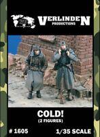 Verlinden 1:35 Cold German Infantry in Eastern - 2 Resin Figures Kit #1605