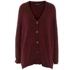 Dorothy Perkins Angora Blend Button Boyfriend Slouch Cardigan Long Sleeve Button