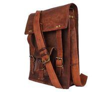 """Bag Leather Small Men Shoulder Messenger S Genuine Belt Satchel Pack Mens New 9"""""""