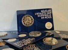 Coincard BU 2 Euros Commémorative France 2021 JO Paris 2024 Olympic Bleu