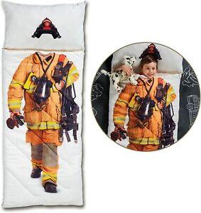 NEW FAO Schwarz Imaginary Adventure Fireman Sleeping Bag fire fighter kids cute