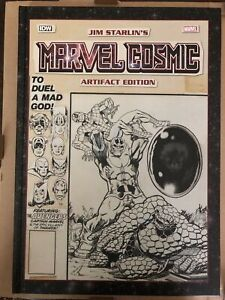 Jim Starlin's MARVEL COSMIC ARTIFACT EDITION SDCC 2018 Variant IDW Signed OOP