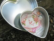 """2 Heart Shaped Baking Pans, Wilton 9"""" and 11.5"""""""