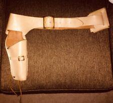 Vintage Leather Pistol Ammo Belt & Holster - 1962 COLT FRONTIER SCOUT .22