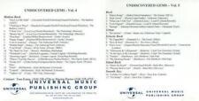 Universal Music: Undiscovered Gems Vol. 4 & 5 PROMO CDs Masta Ace 34trk w/ Artwk