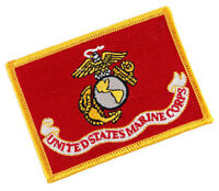 US MARINE CORPS FLAG USMC SEMPER FIDELIS EMBROIDERED PATCH MILITARY EAGLE ANCHOR