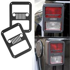 Pair Black Rear Tail Light Lamp Guard Trim Cover For Jeep Wrangler JK 07-16