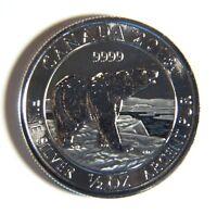 2018 Canada Polar Bear 1/2 oz .9999 Silver $2 Two Dollars Coin