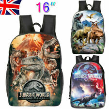 2019 Boys Jurassic World School Bag Dinosaur Park Backpack Shoulder Rucksack 16""