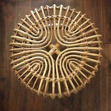 Stunning Mid Century Vintage Franco Albini Footstool Bamboo Rattan