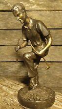 Golfer Breaking Golf Club Over Knee Solid 5 lbs. Bronze Metal Sculpture / Statue